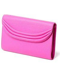 Lauren Cecchi New York | Stretta Hibiscus Pink Clutch | Lyst
