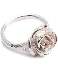 Leivan Kash - Rose Pinky Ring - Lyst