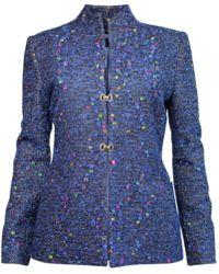 Plakinger | Multicolor Dots Tweed Jacket | Lyst
