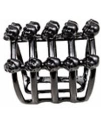 Bernard Delettrez | Cage And Skulls Black Bronze Ring | Lyst