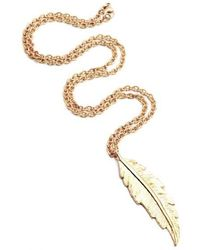 Leivan Kash - Feather Necklace - Lyst