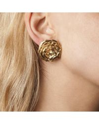 Leivan Kash | Rose Stud Earrings | Lyst