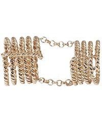Bernard Delettrez - Articulated 7 Bands Bronze Ring - Lyst