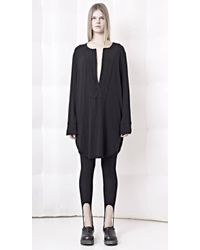 Gaffer And Fluf - Black Wool Blend Tunic Top - Lyst