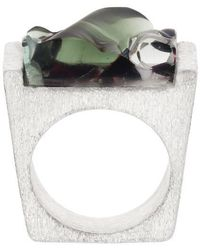 Pasionae - Murano Glass And Silver Ring - Lyst