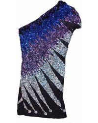 Emilio Pucci - Multi Color Silk One Shoulder Cocktail Dress - Lyst