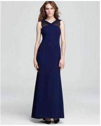 5aa6bc51a35 BCBGMAXAZRIA - Evans Lace Insert Evening Dress - Lyst