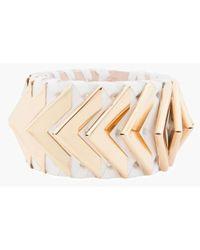 Balmain - Greta Small White Napa Leather Bracelet - Lyst
