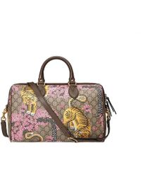 Gucci - Bengal Tiger Boston Top Handle Bag - Lyst
