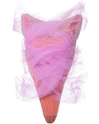Y. Project - Y / Project Pink Tulle Layer Second Skin Bodysuit - Lyst