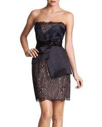 BCBGMAXAZRIA - Bcbg Maxazria Runway Strapless Lace Bustier Mini Dress - Lyst