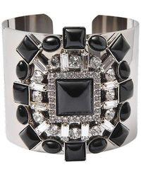 Helene Zubeldia - Cuff With Crystal Details Bracelet - Lyst