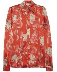 Jonathan Saunders - Anita Floral Print Silk Satin Shirt - Lyst