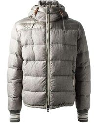 Moncler - Eusebe Mixed Grey Hooded Padded Jacket Detachable Gilet - Lyst