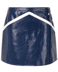 Courreges - Courrèges Blue Rangers Cotton Blend Mini Skirt - Lyst