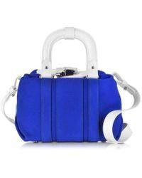 Carven - Pelham Blue Suede Small Shoulder Bag - Lyst