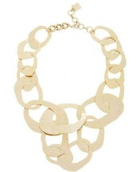BCBGMAXAZRIA - Hammered Geometric Necklace - Lyst
