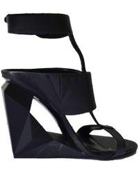 BCBGMAXAZRIA - Bcbg Maxazria Wedge Platform Black Wedge Shoes - Lyst
