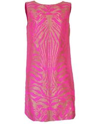 Manish Arora - Pink & Gold Tiger Print Open Back Dress - Lyst