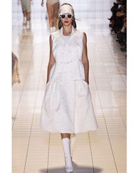 Rochas - Runway Knee Length White Jacquard Skirt - Lyst