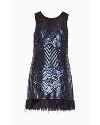 BCBGMAXAZRIA - Caterina Sequined Dress - Lyst