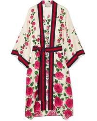 Gucci - Rose Garden Print Silk Kimono - Lyst