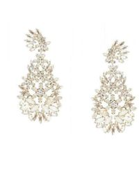 BCBGMAXAZRIA - Bcbg Maxazria Floral Statement Earrings - Lyst