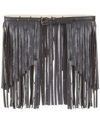 BCBGMAXAZRIA - Bcbg Maxazria Black Fringe Studded Belt - Lyst