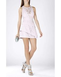 BCBGMAXAZRIA - Bcbg Maxazria Hanah Sleeveless Asymmetrical Hem Dress Lcc62b05-527 - Lyst