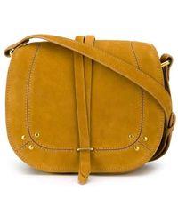 Jérôme Dreyfuss - Victor Saddle Mustard Leather Bag - Lyst
