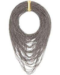 BCBGMAXAZRIA - Bcbg Maxazria Hematit Seed Bead Necklace - Lyst