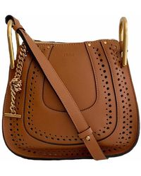Chloé - Hayley Caramel Perforated Leather Cross Body Bag - Lyst