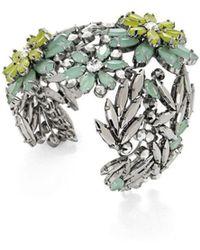 BCBGMAXAZRIA - Bcbg Maxazria Floral Stone Cuff Bracelet - Lyst