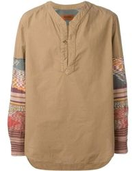 Missoni - Runway Men Beige Patchwork Long Sleeve Shirt - Lyst