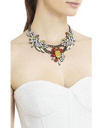 BCBGMAXAZRIA - Bcbg Maxazria Floral Stone Necklace - Lyst