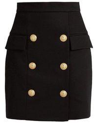 Balmain - Double Breasted Skirt - Lyst