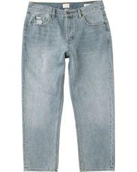 RVCA - Flood Denim Neutral Jeans - Lyst