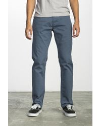 RVCA - Stay Straight Fit Pants - Lyst