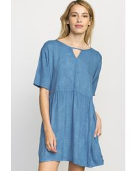 RVCA - Out Of Town Babydoll Dress - Lyst