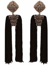 Sachin & Babi - Dupio Earrings | Silver/jet - Lyst