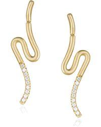 Carelle - Brushstroke Diamond & 18k Yellow Gold N? 51 Earrings - Lyst