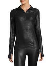HPE - Quarter Zip Moto Jacket - Lyst