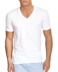 Saks Fifth Avenue - V-neck Tee, 3-pack - Lyst