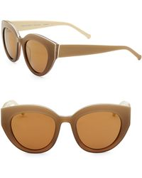 Colors In Optics - Carnavale Thick Plastic Cat Eye Sunglasses - Lyst