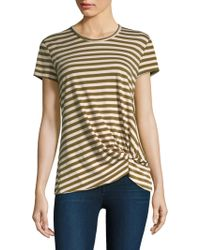 Stateside - Army Stripe Twist Tee - Lyst