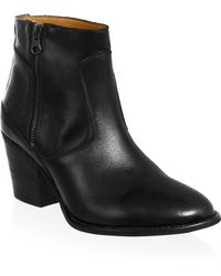 HUNTER - Refined Leather Ankle Booties - Lyst
