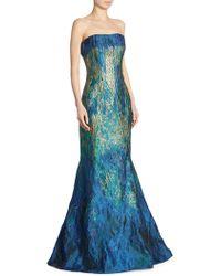 Rene Ruiz - Strapless Ombre Jacquard Mermaid Gown - Lyst