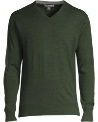 Peter Millar - Men's Merino Wool & Silk V-neck Jumper - Woodland - Size Large - Lyst