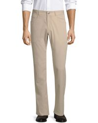 Peter Millar - Men's Woven Twill Trousers - Khaki - Lyst