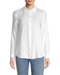 Eileen Fisher - Collared Button-down Shirt - Lyst